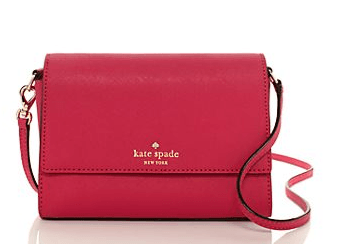 Steffiano Leather Scout Cross Body, Kate Spade Cross body bag, Pink Cross Body bag