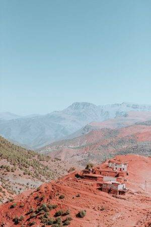 These Atlas Mountains are just one of the many majestic that you get to see on your tours from Marrakech. #Morocco