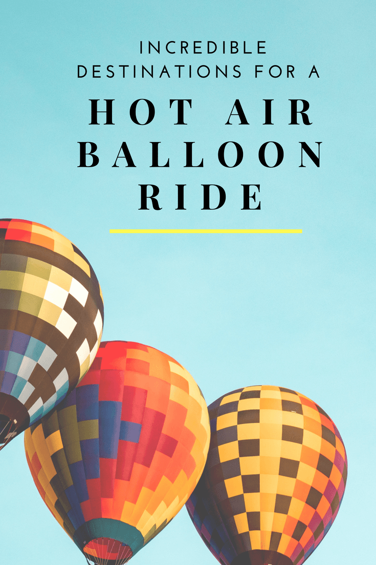 Looking to experience a hot air balloon ride? Check out these 8 Incredible destinations- regardless of whether it\'s your first time or you\'re a pro. We also include our favorite hot air balloon ride in Albuquerque and Cappadocia Turkey. #Turkey #Bucketlist #Travel #skyviews