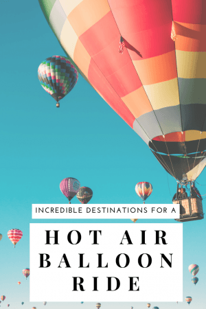 See the world from a bird's eye without getting on an airplane in a hot air balloon ride. One of 8 great destinations where taking a hot air balloon is worth the time and money- check out our favorites in Chile, Mexico, and California. #Cappadocia #Albuquerque #travel