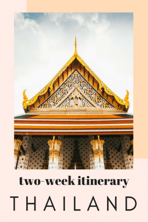 Sharing our Thailand travel itinerary for 2 weeks including tips for Bangkok, Chang Mai, and many other Thai islands. #travel #Thailand #Bangok
