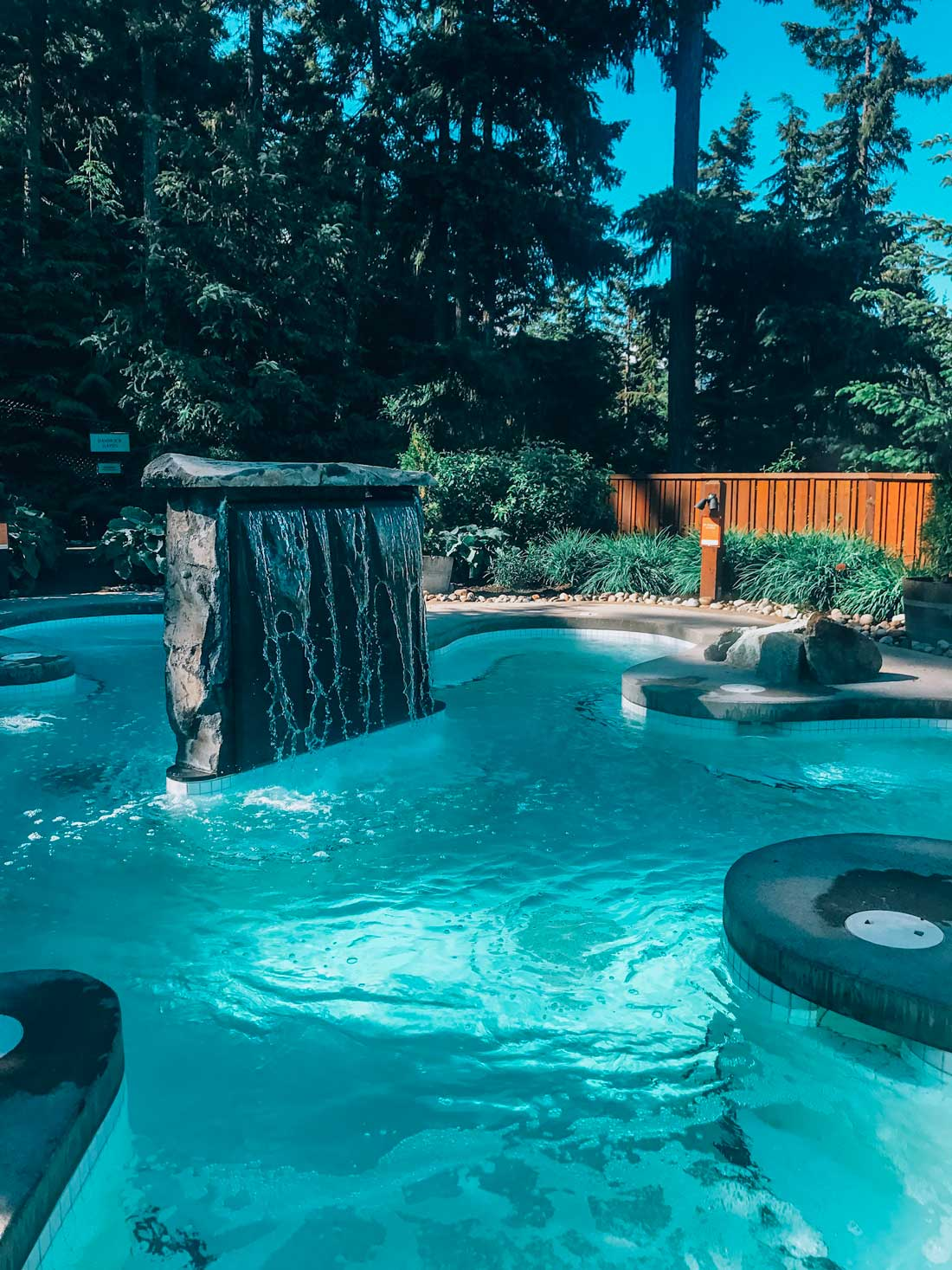 Scandinave spa is one of the best places to unwind in Whistler after a day exploring or on the slopes. #whistler #bc #canada #girlstrip #spa