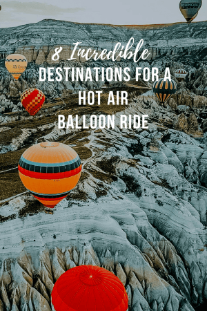 See Cappadocia from a bird's eye in a hot air balloon ride. One of 8 great destinations where taking a hot air balloon is worth the time and money- check out our favorites in Chile, Mexico, and California. #Cappadocia #Albuquerque #travel