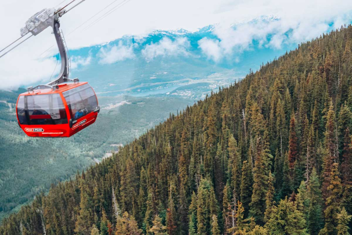 Peak 2 peak is one of the must do activities in whistler over the summer or winter