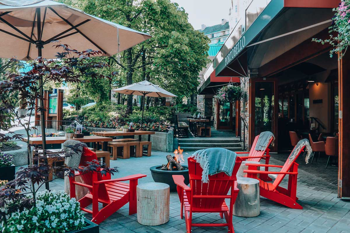 Upper Village Whistler is a great place to explore in Whistler and walking around is one of the Whistler summer activities that the local recommend. This Whistler guide shows you all the things to do in Whistler in summer, places to stay, and things to see. #Whistler #summer #BC #Canada #girlstrip