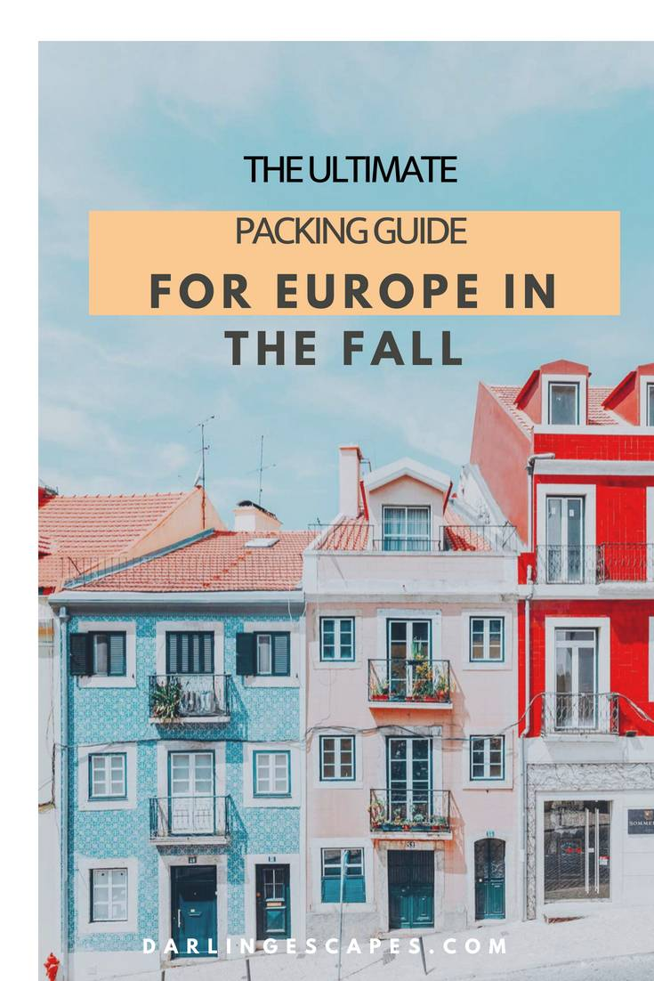 The ultimate packing list for fall in Europe including clothes, tech etc. #reurope #packinglist