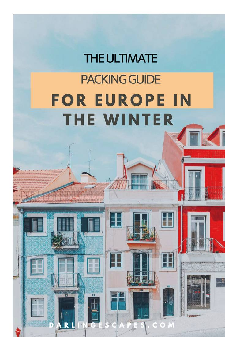 The ultimate packing list for Christmas in Europe. Everything you need to bring with you in a carry-on, because travelling to Europe in winter is hard. #Europe #Packinglist