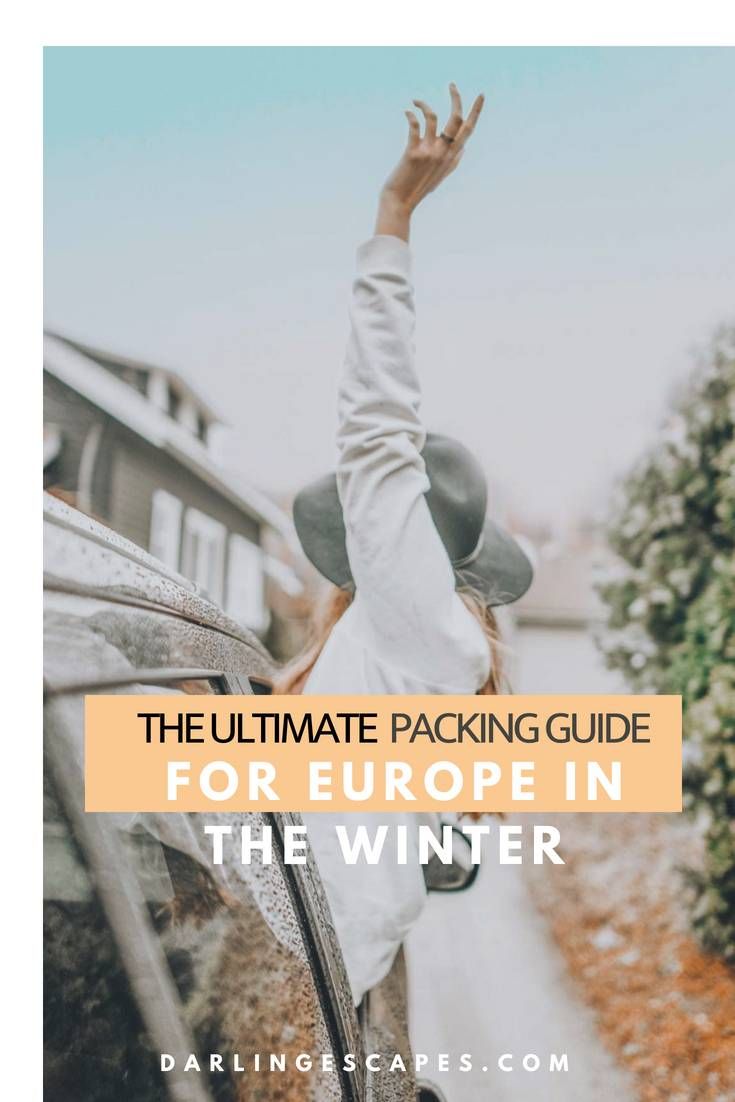Answering the ultimate question- what do you pack for fall and winter in Europe. This packing list for Europe in the winter has everything you need. #Europe #Packinglist