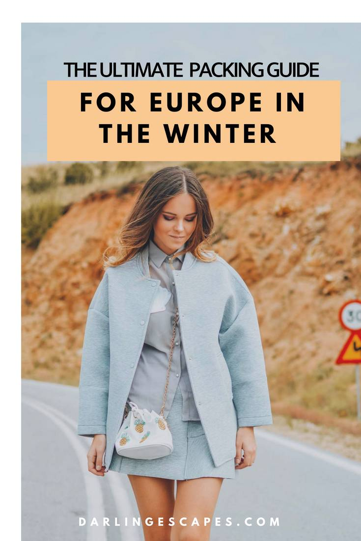 Answering the ultimate question- what do you pack for Christmas in Europe . This packing list for Europe in the winter has everything you need. #Europe #Packinglist