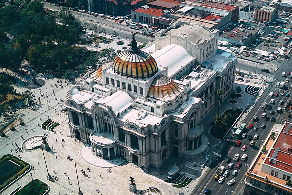"Known as ""The Cathedral of Mexico"", Palacio des Bellas Artes is definitely on our list of must-sees in Mexico City"