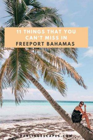 Heading to the Bahamas and looking for the best Freeport excursions? We have you covered with the top things to do in Freeport Bahamas including a visit Pelican point beach. #Freeport #bahamas #thingstodo