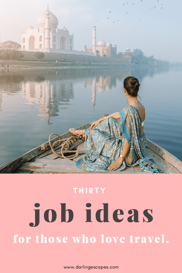 Dreaming of traveling the world for a living? The digital nomad lifestyle is a thing now, and here are thirty job ideas that will allow you to get paid to travel the world forever!