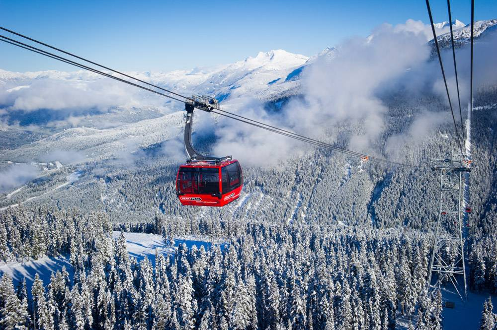 Peak2Peak gondola ride in Whistler requires no skiing