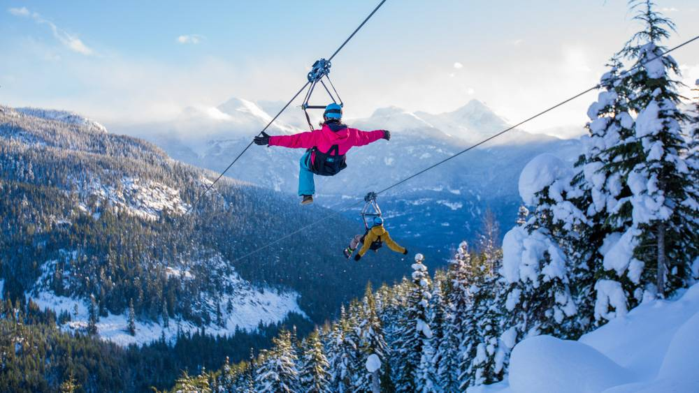 Incredible views over Whistler with Superfly Ziplining