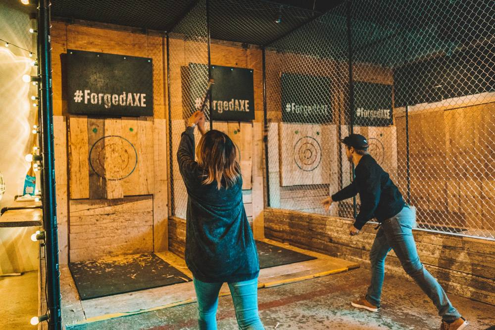 Axe Throwing forms the ultimate indoor attraction in Whistler