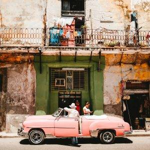 Old vintage cars painted in the sweetest colours: it's what Cuba is famous for