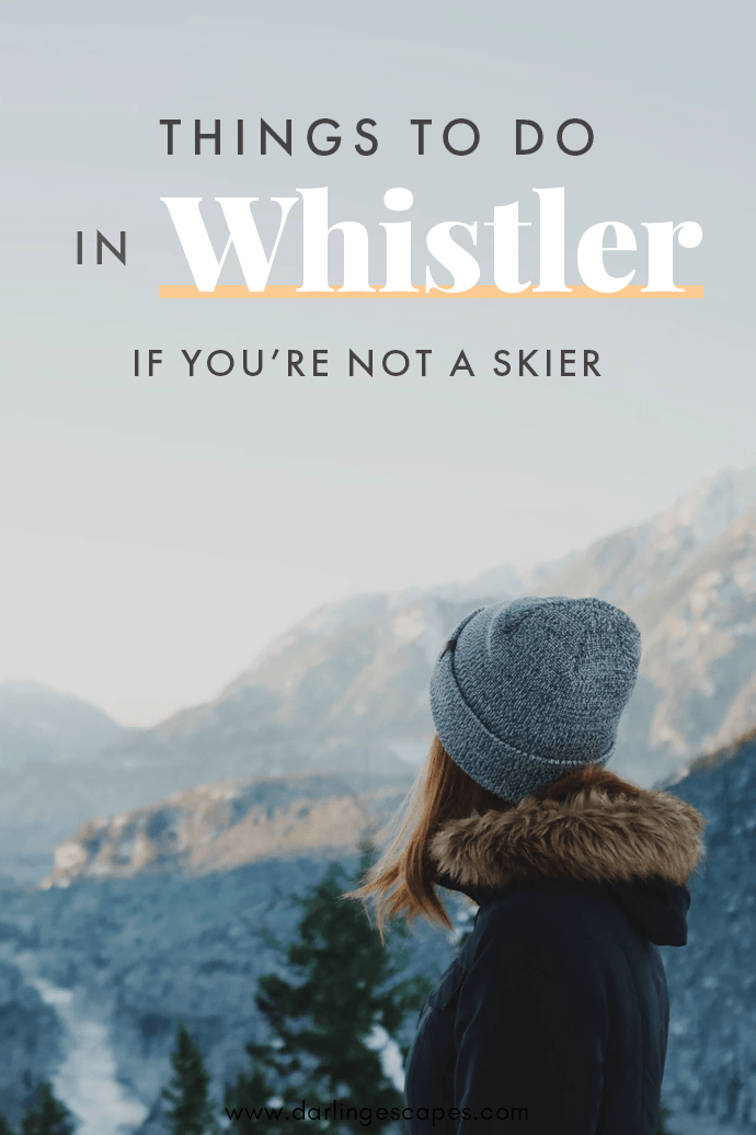 Putting together a winter itinerary for Whistler but wondering if there will be enough things to do in the area for a non-skier? We've put together a list of ten incredible activities in Whistler for non-skiers! #Whistler