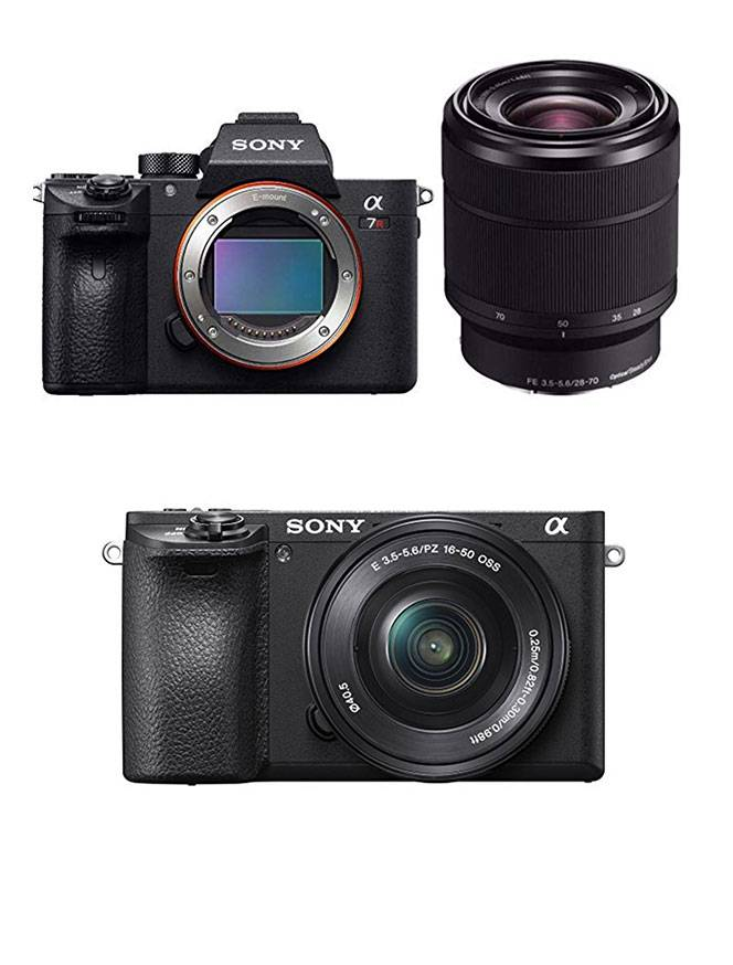 Gift guide for luxury travel lovers including Sony mirrorless camera