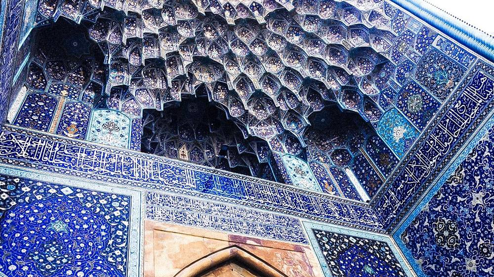 Another reason to travel to Esfahan in Iran: all the colours you can find in beautiful mosques