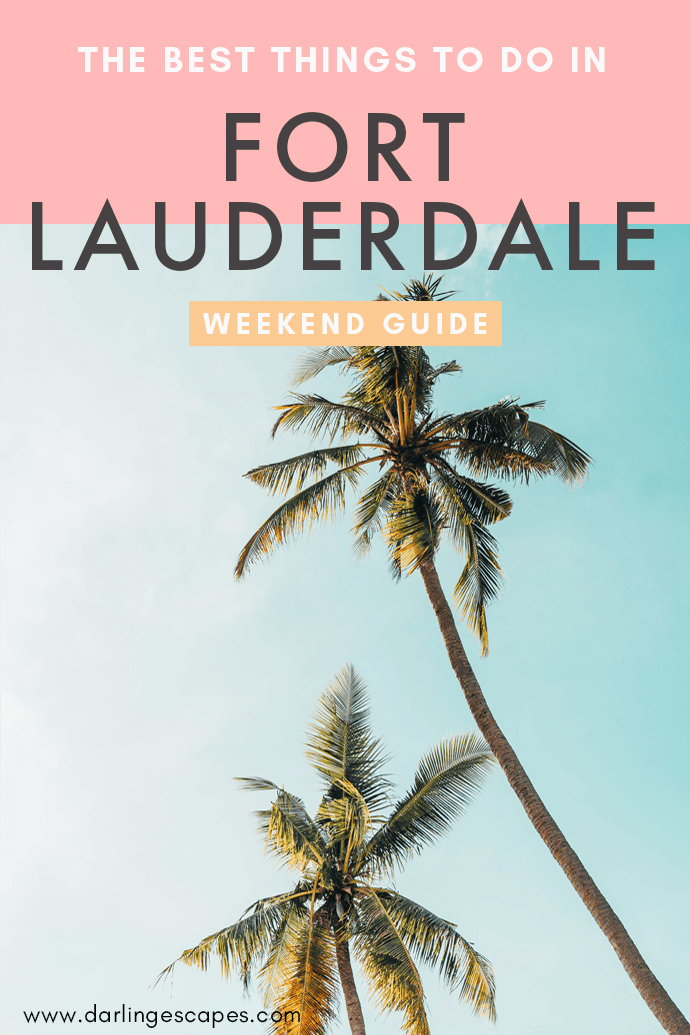 Looking for the best things to do in Fort Lauderdale on a weekend getaway? We've got a guide for you that includes fun activities, where to eat, and where to stay in Fort Lauderdale! #FortLauderdale #Florida