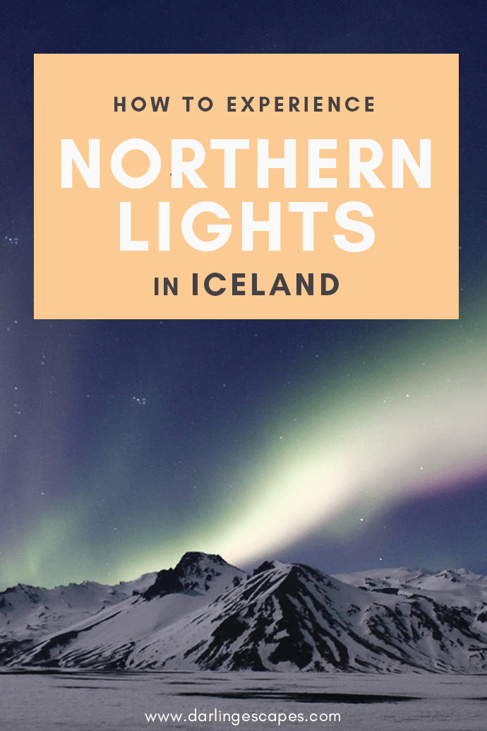 A guide to experiencing the northern lights in Iceland, including tips on what to wear, the best times to visit, and photography tips to get the best shots of the Northern lights! #Iceland