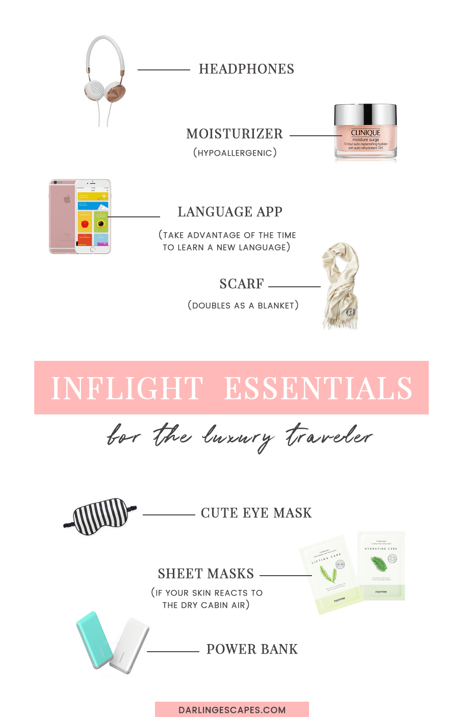 The ultimate list of carry on inflight essentials for luxury travelers!