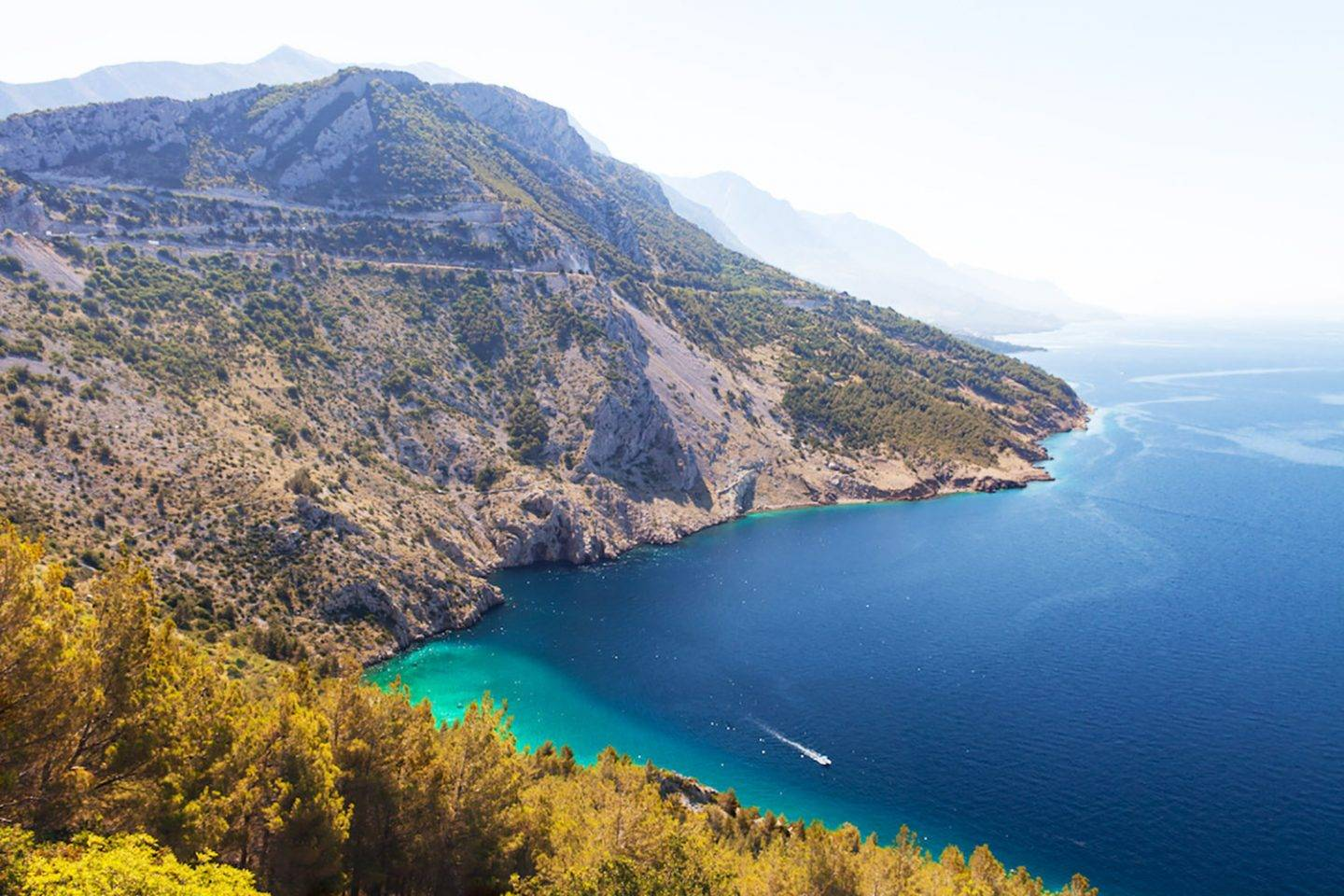 The stellar view along the road of the Makarska stretch(yes, we absolutely swam down there!