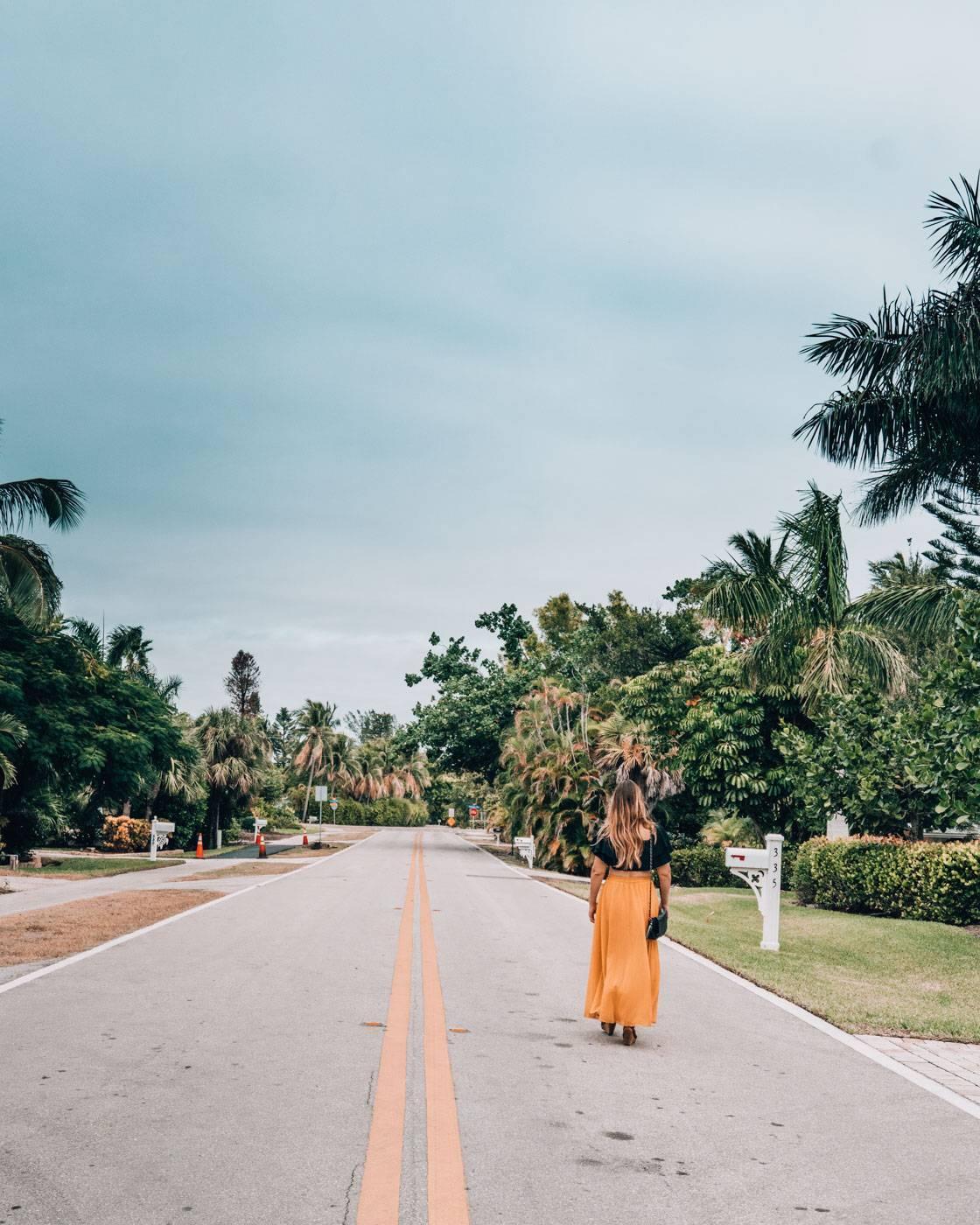 Biking around the quiet town of Sanibel Island