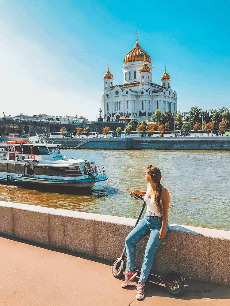 Do as the younger locals do: visit Moscow on an electric scooter