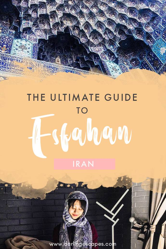 Dreaming of a different destination? Head over to Esfahan! This guide includes the best things to do in Esfahan, as well as a restaurant guide for the foodies and hotel recommendations to Iran's most alluring city #Iran #Esfahan #Isfahan