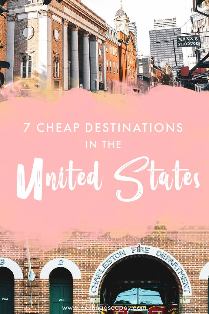 Travel doesn't have to break the bank, and whether you're looking for a family-friendly vacation or a girls' weekend getaway, we've got seven amazing and cheap places to visit in the US! #USA