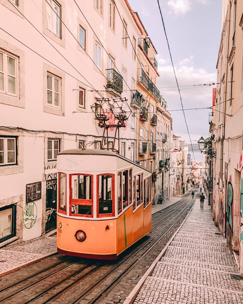 Rare to find anymore, but our Lisbon itinerary will shows you where to spot these old tram cart in Portugal