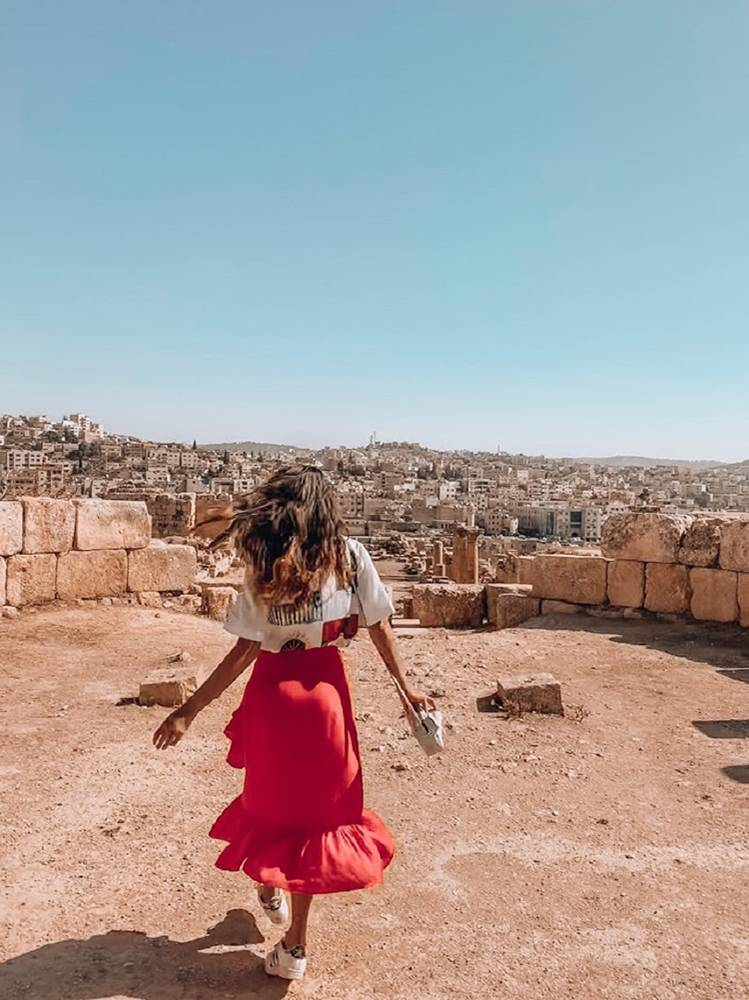 The ruins of Jerash offer some great view points over the entire site, making it one of the top things to do in Jordan