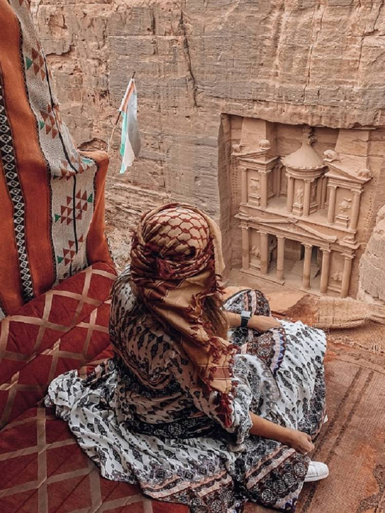 Looking down on one of the Wonders of the World, Petra is a highlight when visiting Jordan
