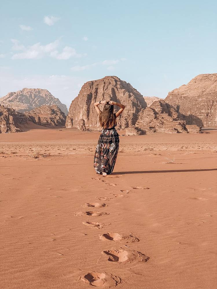 Sleep under the stars in a Bedouin camp; the Wadi Rum desert is high on our list of things to do in Jordan