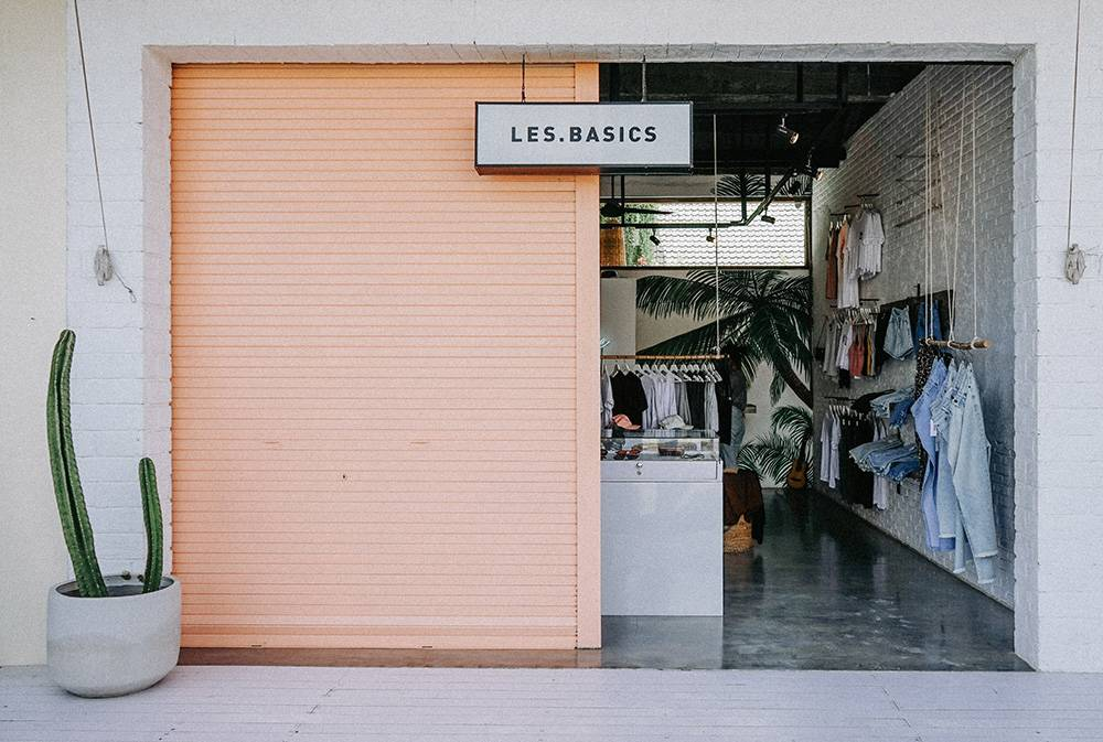 If you're wondering what to do in Canggu, you might know Bali is filled with cute shops, like this 'Les Basics' in Canggu