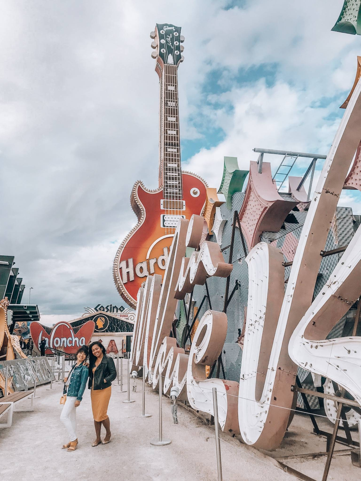 Head to the NEON museum for your ultimate dose of 'US of A' with your girls in Vegas