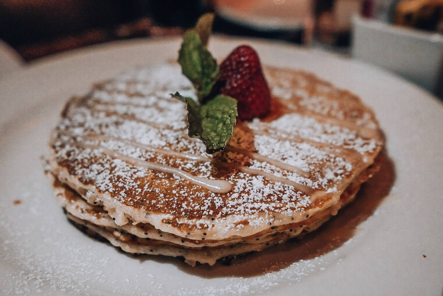 Pancakes for breakfast, or was it dinner? How cares, on a girls' trip to Vegas, nobody sleeps.
