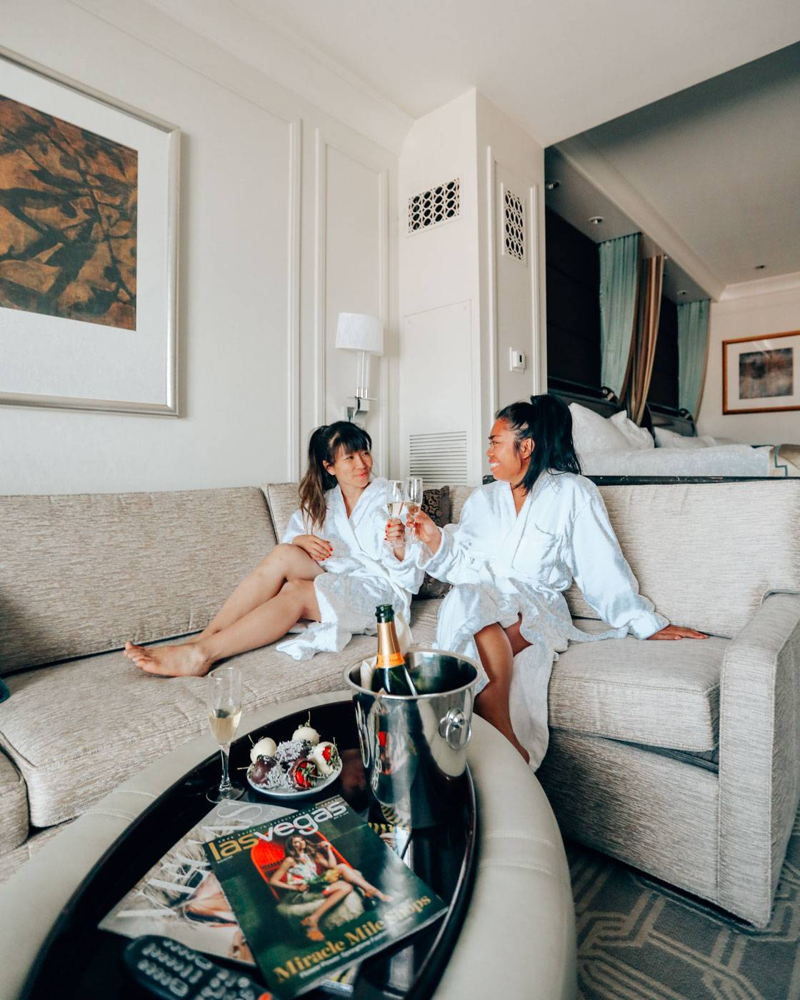 Planning a girls' trip to Vegas? Hop on the Suiteness train and have them fix the group up with the most gorgeous adjoining rooms and more