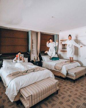 Be warned: if Suiteness hooks you up with adjoining rooms on your Vegas girls' trip, your girls might still sneak up on your bed.