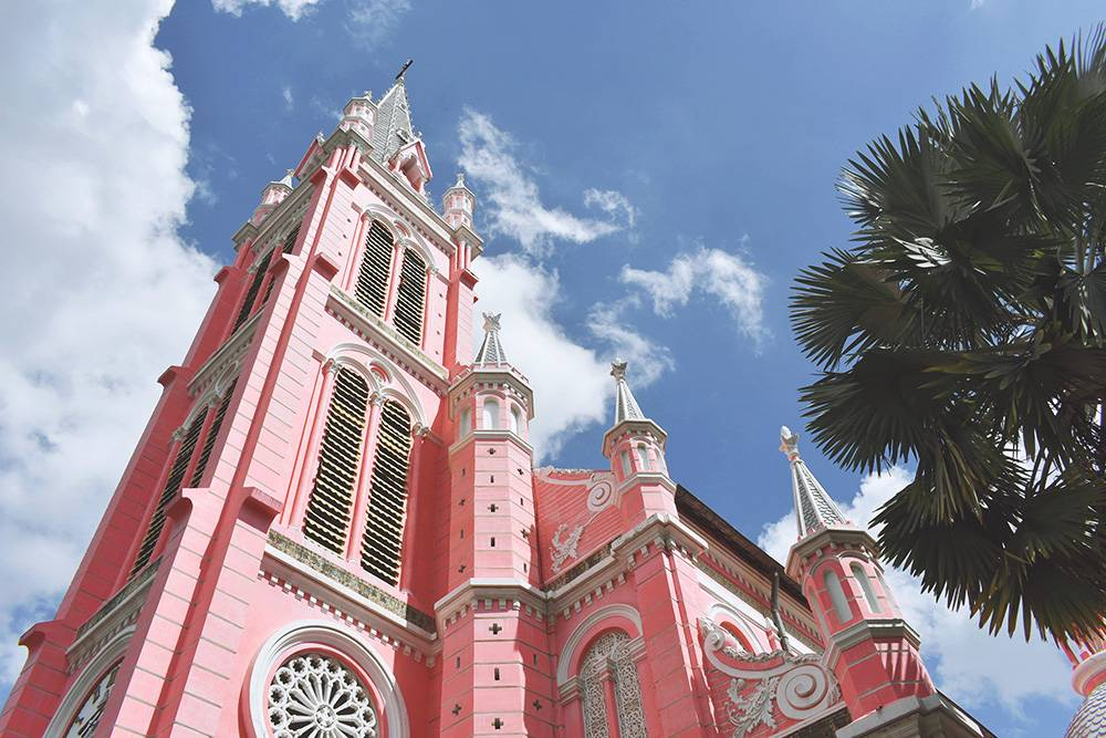 Lady Pink is also known as Tan Dinh church and if you're looking for what to do in Ho CHi Minh City, its a quirky add to your list