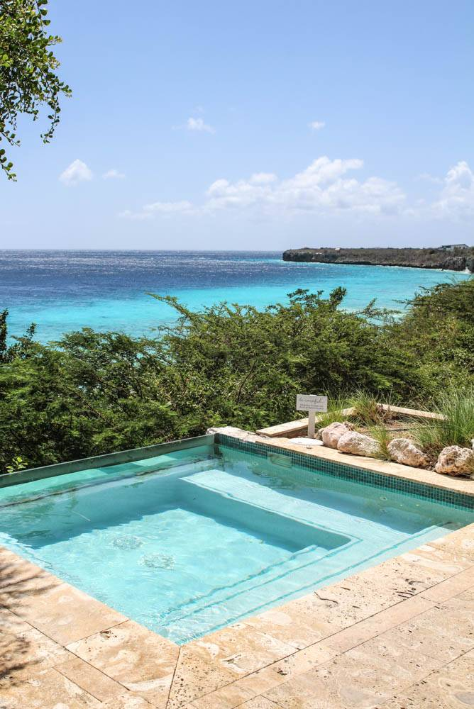 The dreamy pools at 8, The Experience, the best spa in Curacao