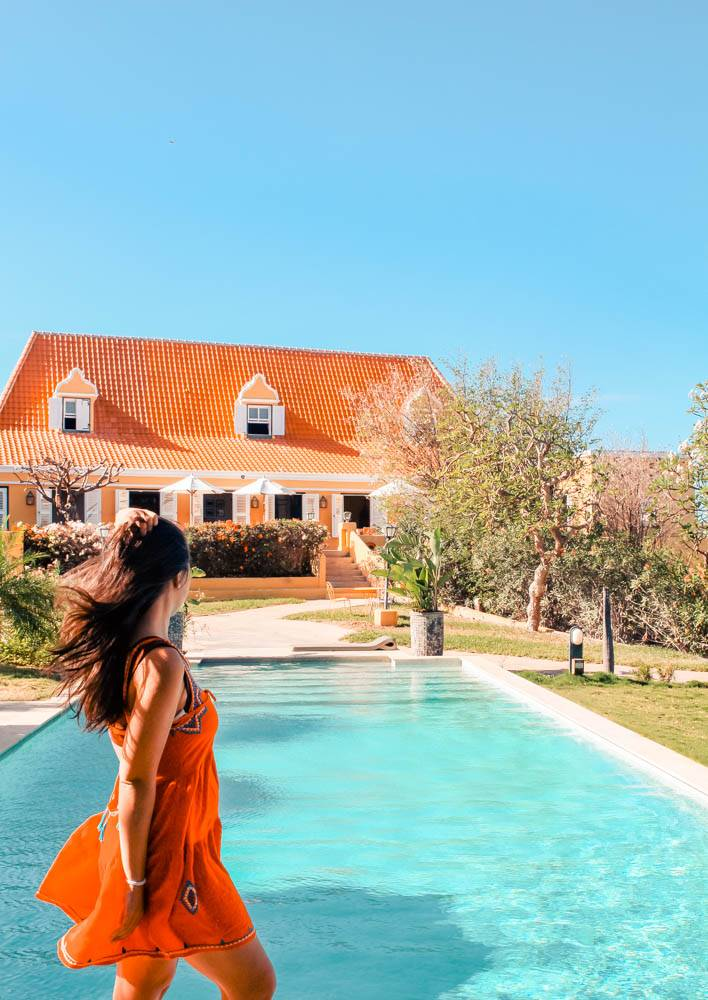 Wondering where to stay on a girls' trip to Curacao? Our favorite hotel is Landhuis Jan Thiel