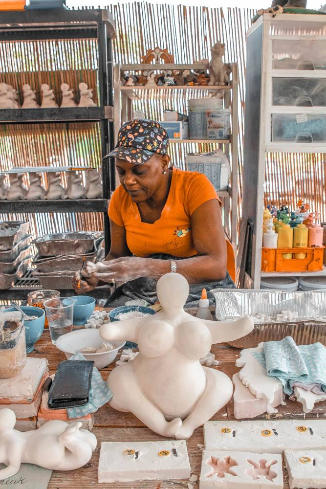 Visiting Serena's Art Factory to learn about chi chi dolls was one of our favorite activities in Curacao