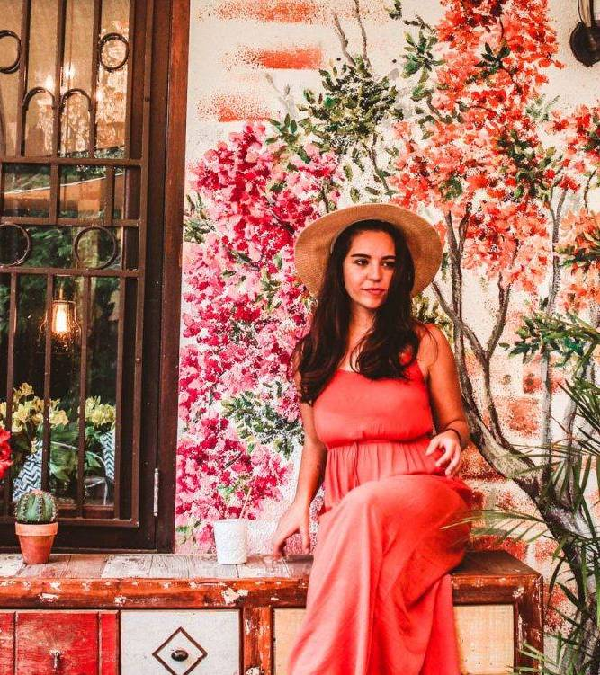 The art at Number 10 cafe in Curaçao is incredibly instagrammable