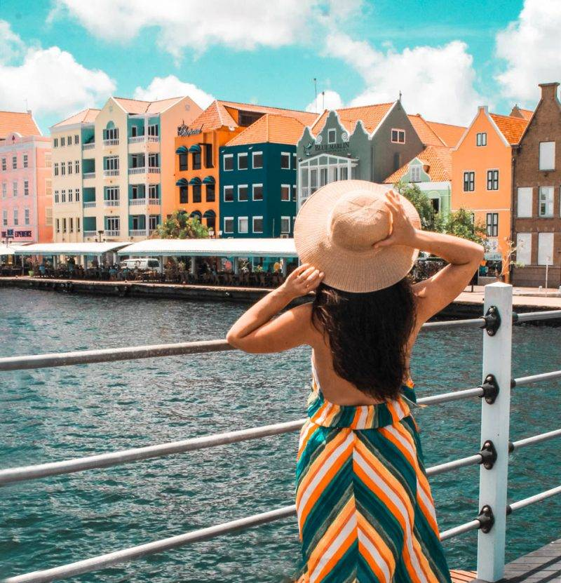The colorful skyline of Willemstad is one of the most instagrammable spots in Curacao