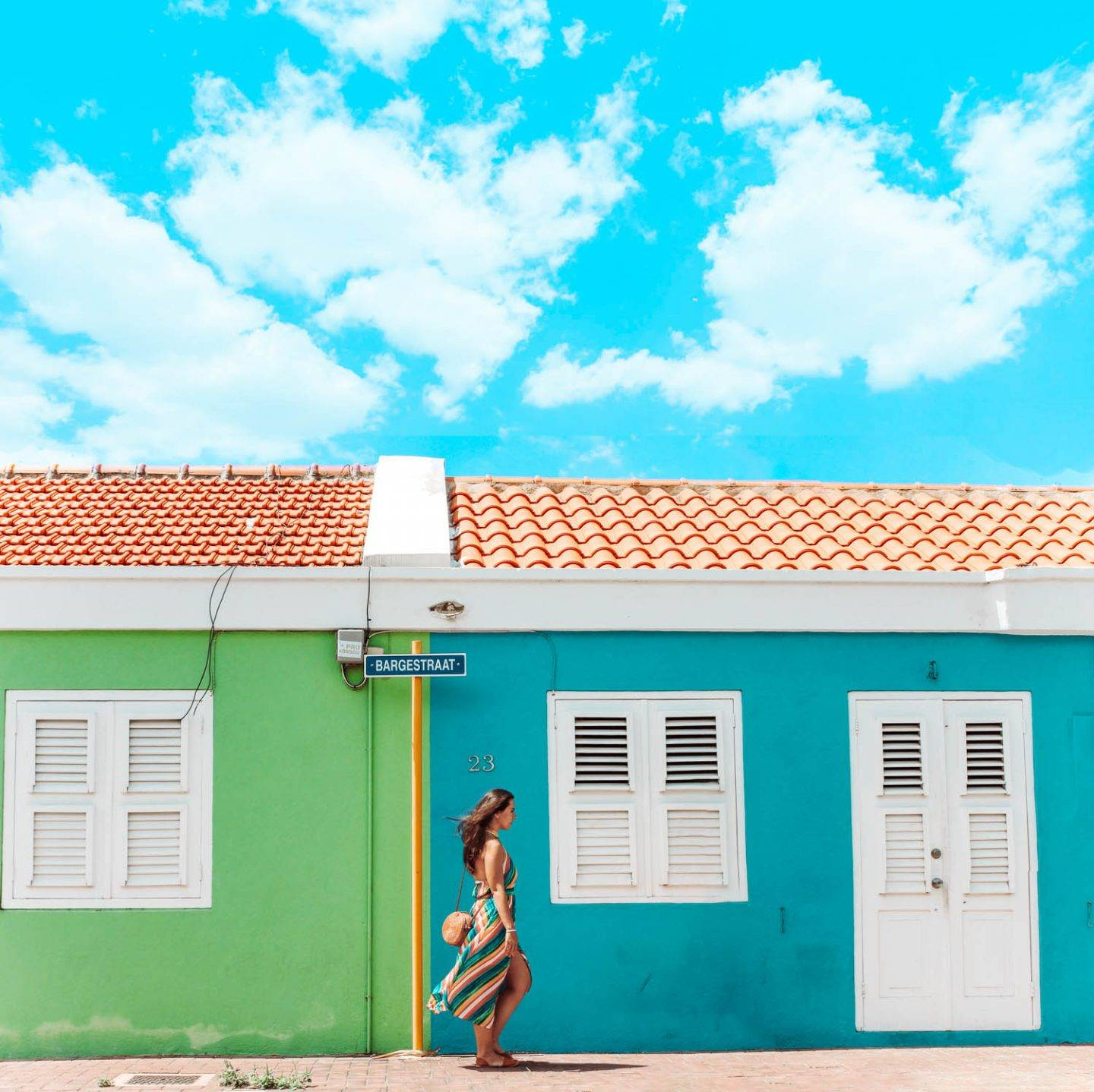 The colorful buildings of Scharloo, the artsy neighborhood of Curacao makes for a perfect photo stop in any Curacao itinerary!