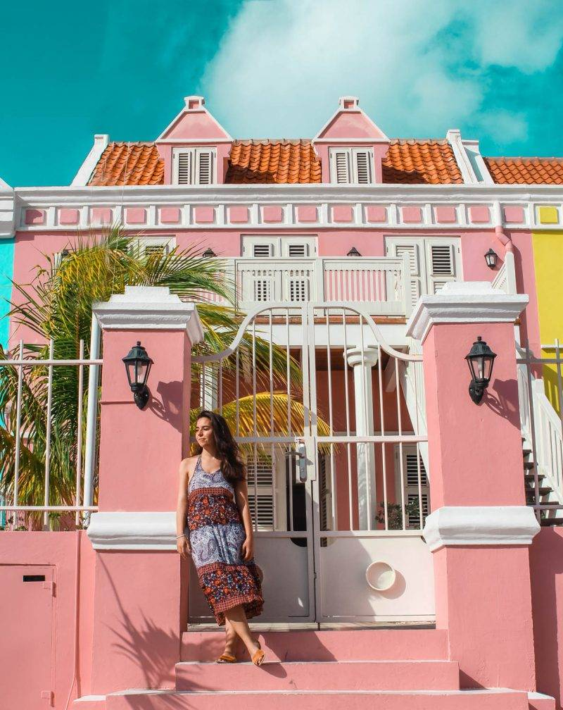The colorful buildings of Willemstad were one of the our favorite things about visiting Curacao on our girls trip!