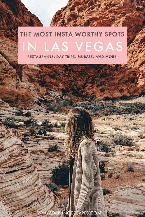 The ultimate guide to the most Instagrammable spots in Las Vegas! From day trips to colorful mountains to cute coffeeshops and wall murals, we've got all the best photo spots in Las Vegas here! #Vegas