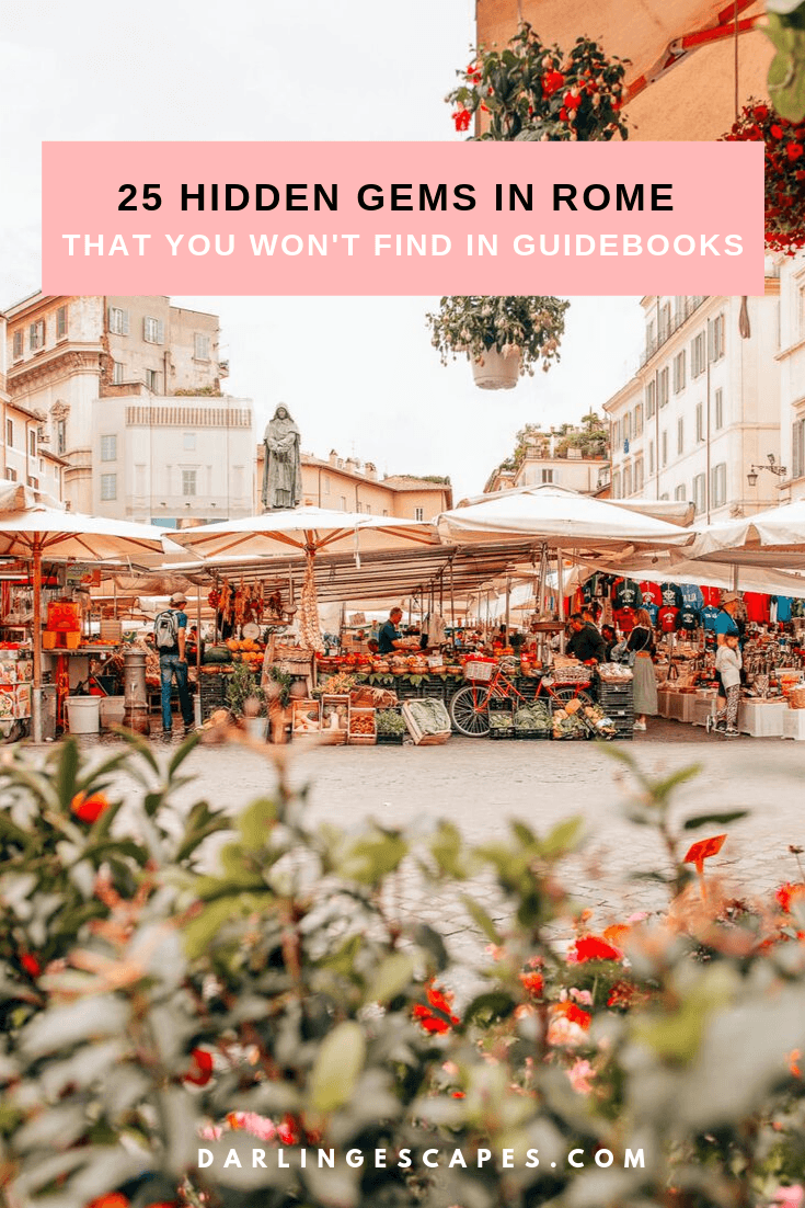 Wondering where to go in Rome where no tourists are around? Although the Coliseum and Trevi Fountain are cool sights, there are so many other spots in Rome that you have to check out! On this guide, we share 25 unusual things to do in Rome and places to see that you won't find in any guidebook! #Rome #Italy